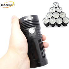 12T6 LED 20000LM Flashlight Torch King Series Flashlights linterna 10x XML T6 Flash light Lamp Light  Lantern use 18650 Battery