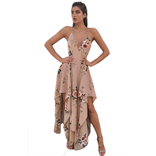 Quick sell print dresses 2017 summer new arrive Europe and America beach clothing fashion women sexy dress 9155(China)