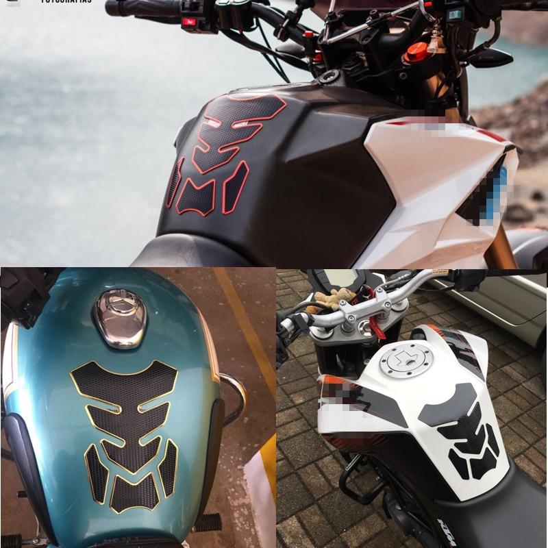 Look del carb/ón 3D de la Motocicleta Pegatina de Gas Combustible del Tanque de Aceite Protector del coj/ín de la Etiqueta Pegar Caso for Yamaha YZF R1 R3 R6 MT03 MT-09 MT07 MT10