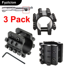 3PCS Rail Action Tactical Torch Barrel Bracket Mount 5 Position Flashlight Holde For Mossberg 500 590 835 Maverick 12 gauge Mag(China)