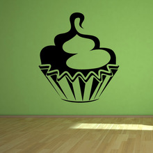 DCTOP Swirl Cupcake Wall Decals Vinyl Stickers On Wall Hollow Out Waterproof Living Room Home Decor(China)