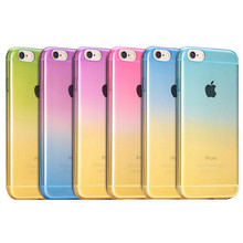 For iPhone 6s 6 Plus Fashion Gradual Change Gradient Color Soft TPU Silicone Back Case Cover For iPhone 4G 4S 4s iphone SE 5G 5s
