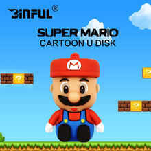 Super mario cartoon Usb Flash Drive 8GB 16GB silicone U Stick Pen Drive 4GB cheap Pendrive 32GB 64GB Flash usb Drive Gift(China)