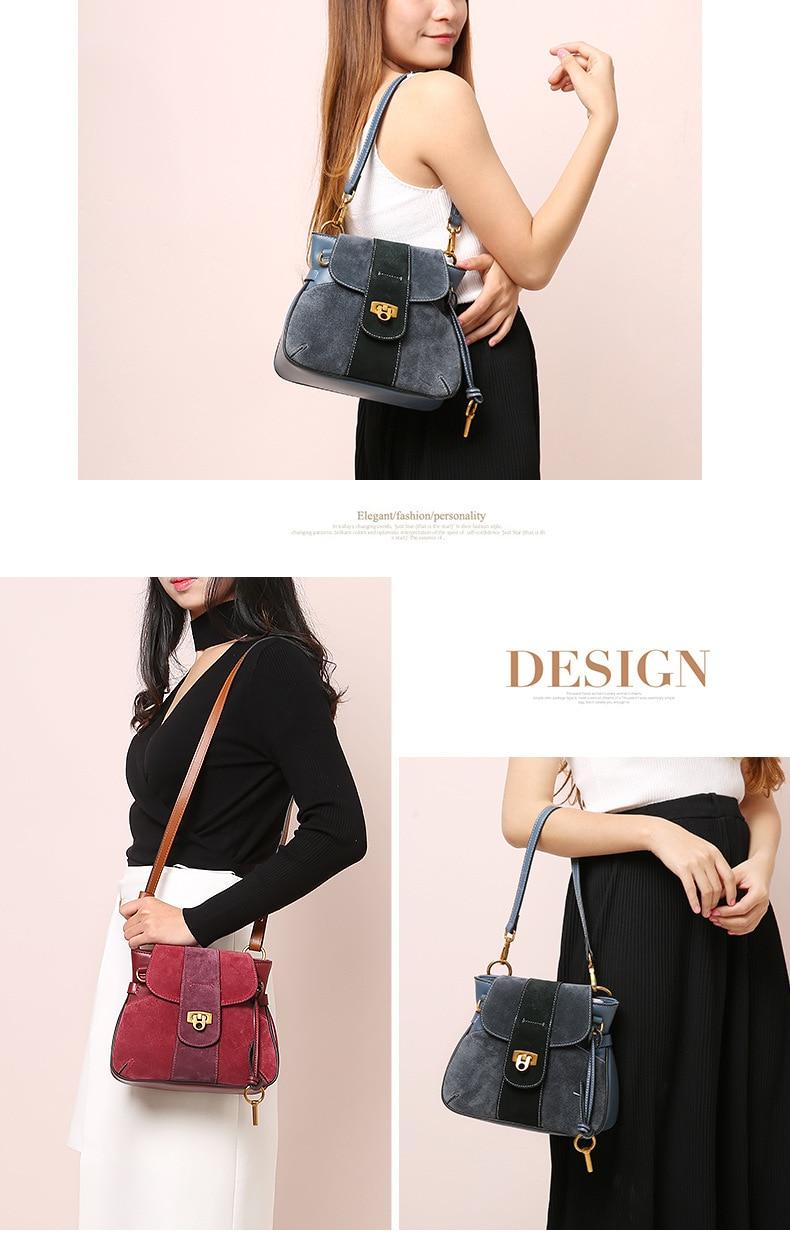 Luxury Handbag Women Designer Genuine Leather Bag Women Leather Handbags Channels Shoulder Messenger Bag handbag bolsos muje (4)