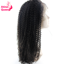 Atina Queen Glueless Full Lace Human Hair Wigs for Black Woman 130 Density Kinky Curly Wig with Baby Hair non remy Free Shipping