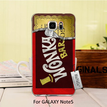 MaiYaCa Plastic PC Cell Phone Opened Half Unique Snap on Golden Bar Willy Wonka Chocolate For Galaxy note5 case(China)
