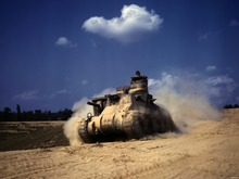 Old Tank Sand Dust Military Weapon Wall Stickers Art Huge Poster TXHOME D2811