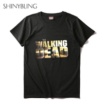 Women men Black White Pink Cotton Streetwear Brand Clothing t-shirt Plus Size The Walk Dead shirts Prints Unisex Walking Shirt
