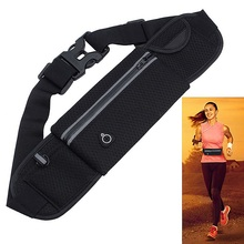 New Black Waterproof Outdoor Sport Running Waist Belt Bag Cycling Jagging Mobile Phone Money Pack Pouch Bags Women Men