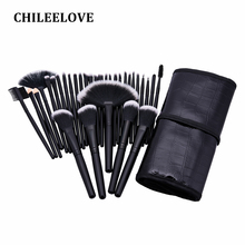 CHILEELOVE Makeover 32 Pce/Set Complete Professional Makeup Brushes Cosmetic Kit Blush Powder Eye Shadow For Women Girl With Bag