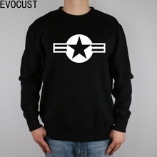 SUPER POWER MILITARY U.S. Air Force USAF men Sweatshirts Thick Combed Cotton(China)