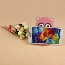Cartoon Small Raccoon Cellphone Holder Tablet Support Bracket With Mirror