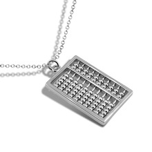Personality Chinese computer abacus pendant necklace.Solid 925 silver necklace women.Sterling silver jewelry fashion wholesale