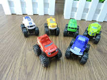 SHINEHENG 6pcs Mini Blaze Diecasts Cars 3.5cm Blaze Monster Machines Toy Vehicles Free with Launcher