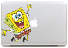 Happy SpongeBob Vinyl Decal Sticker for New Macbook Pro / Air 11 13 15 Inch Laptop Case Cover Sticker(China)