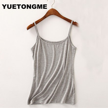 YUETONGME 2017 modal Camis Top 9 colors Summer Style Women Tops Sexy Camisoles For Ladies Black Strap camis BTL119(China)