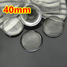 20pcs 40mm Round clear domed magnifying Flat back Glass Cabochons,jewelry pendant inserts glass sticker(China)