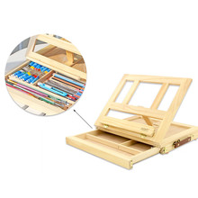 New Hot Sale Fashion Easel Artist Craft with Integrated Wooden Box Art Drawing Painting Table Box for 26*33.7 cm TRQ127