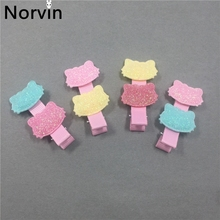 Norvin New 2017 Girl Hair Accessories Pink Hello Kitty Kids For Hairpin Hair Clip Lovely Headdress 4 Pcs/lot Girls' Gift(China)