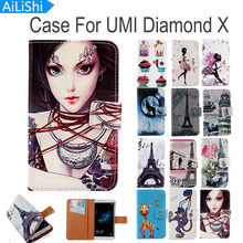 AiLiShi Flip PU Leather Case For UMI Diamond X Case Hot Sale Cartoon Painted Protective Cover Skin In Stock