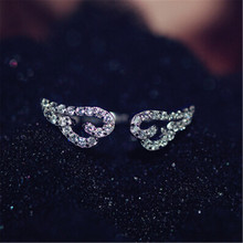2016 New design Women rings High quality 925 sterling silver jewelry Fashion Angel wings rings for women elegant gift big sale