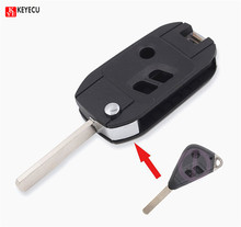 KEYECU BRAND NEW For SUBARU Remote FLip 3 button Key Shell Case Legacy Forester Outback Impreza(China)