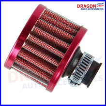 Air Filter Car Cone Cold Air Intake Filter Turbo Vent Crankcase Breather Neck: about 12mm Red Color