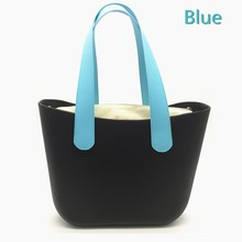 An bag accessory 47 /70 cm  black red blue short flat PU leather handles for obag 2016