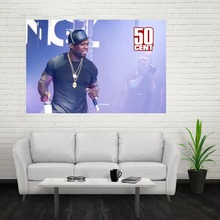 Nice New 50 Cent Poster Custom Canvas Poster Art Home Decoration Cloth Fabric Wall Poster Print Silk Fabric Print(China)