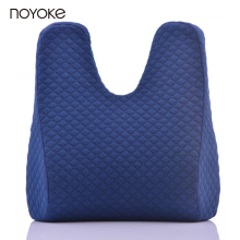 NOYOKE 42*42*6 cm Rabbit Ear Shape Office School Chair Cushion Pad Lumbar Supporting Memory Foam Seat Back Cushion Pad(China)