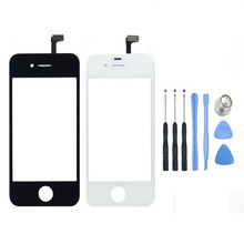 Replacement Front Glass Lens Touch Screen Digitizer For iPhone 4 4S Glass Panel Sensor+Free Tools, Free Shipping&Tracking Number(China)