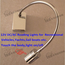 Touch Lamps Bedside 12V/Used in Recreational Vehicles,Yachts,Sail boats etc/Touch the body to control light on&off/CREE LED 3W