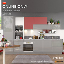 360cm Width Standard Modular Kitchen Cabinet with Lacquer Finish (OP17-L02)