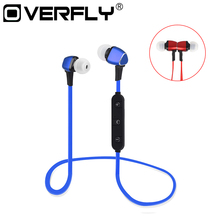 Magnet Metal Sports Bluetooth Earphone Wireless Earbud Stereo Headset With Mic Neckband Headset Portable for iPhone 7 Samsung S8(China)