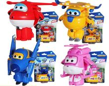 Hot sale 8 styles Super Wings toys Mini Planes Model Transformation Airplane Robot Action Figures Boys Birthday Gift Brinquedos