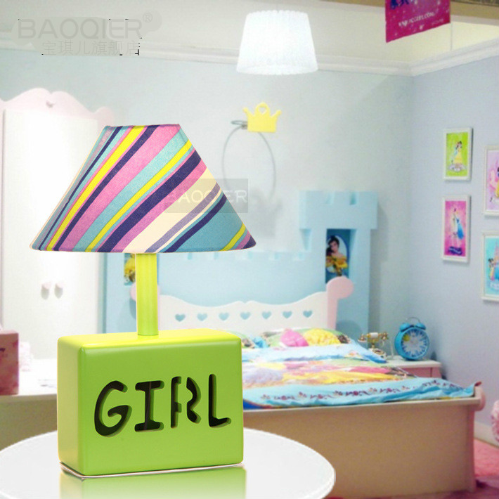 Lovely Creative Fashion Healthy Cartoon Led E27 Table Lamp For Girl Kids Room Present Eye Protected Wood Fabric Light 1811<br><br>Aliexpress