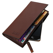 High quality men's Wallets Wholesale First class PU leather purse long leather wallets , Free Shipping(China)