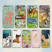 Cute Bambi fawn hearts anime style transparent clear Cover Case for huawei P10 P9 Lite P9 P10 Plus P8 Mate 9 S 8