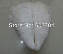 Free Shipping 100pcs/lot white ostrich drab feather ostrich plumes 30-35CM 12-14 inches for wedding decoration