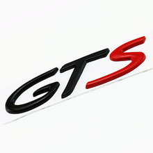 1pc New 3D Car Styling Car Auto Black Red GTS Metal sticker Fit for Porsche Cayenne GTS Rear Emblem Boot Trunk Car Badge Sticker(China)