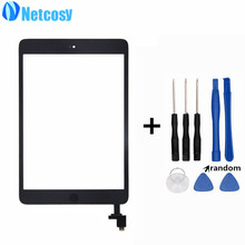 Netcosy A1432 A1454 A1455 A1489 Touchscreen For ipad mini 1/2 Touch Glass Screen Digitizer Home Button With IC Conector & Tools(China)