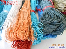 2017 Promotion  yiwu Beads 10 meters/piece 1MM diameter Waxed Thread Polyester Cord String Strap Wholesale Necklace