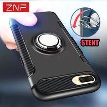 ZNP Luxury Shockproof Case For iPhone 7 7 Plus 6 6s case Metal Ring Holder Combo Phone Cover For iPhone 6 6s Plus Capa Coque
