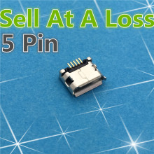 10pcs G21 Micro USB 5pin DIP Female Connector For Mobile Phone Mini USB Charging Socket Curly Mouth High Quality Sell At A Loss