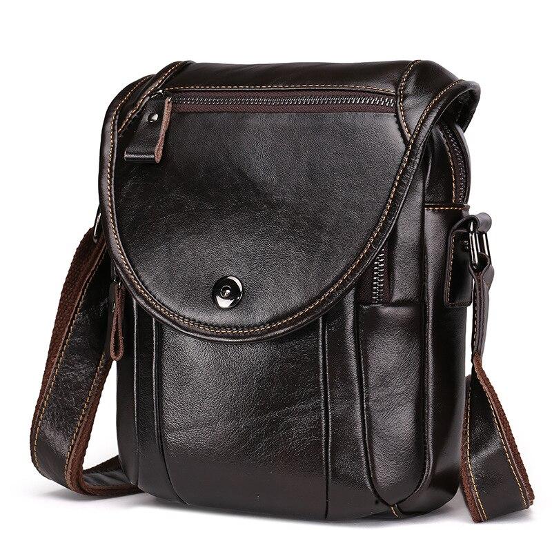 Vintage Genuine Cowhide Leather Mens Cross Body Shoulder Bag Casual Fashion Handbag Briefcase Messenger Bag For Man Male LS8877<br>