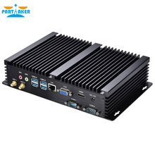 Partaker I3 Mini Desktop Computer Fanless Mini PC industrial PC i3 4010U i3 5005U i5 4200U i7 5550U 2*RS232