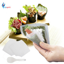 2016 Upspirit Sushi Tools Two Hand Roll Temaki Sushi Molds Moulds DIY Sushi Maker Onigiri Bento Rice Ball Maker With Rice Paddle(China)