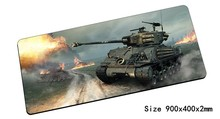 cheap world of tanks mouse pad 900x400x2mm pad mouse notbook computer mousepad large gaming padmouse gamer keyboard mouse mats(China)