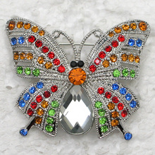 Rhinestone brooch Butterfly Pin brooches C2009 E