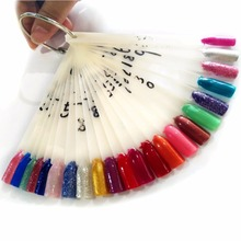 50 Pcs/lot Flase Tips Display for Nail Polish Plastic Fan Board Sticks Polish Chart Nail Art Gel Color Shelf Show Nail Stand Set